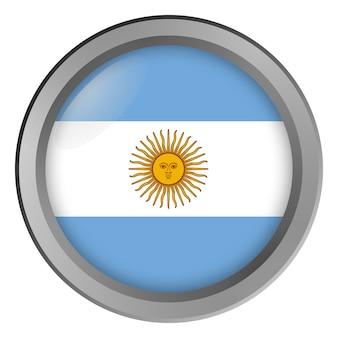 Vlag van argentinië rond als knop