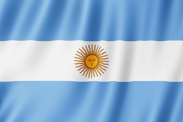 Vlag van argentinië zwaaien in de wind.