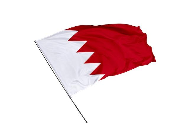 Vlag van bahrein op een witte achtergrond