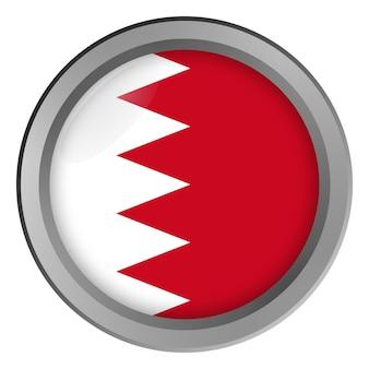 Vlag van bahrein rond als knop
