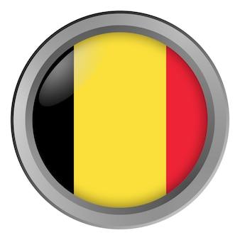 Vlag van belgië rond als knop