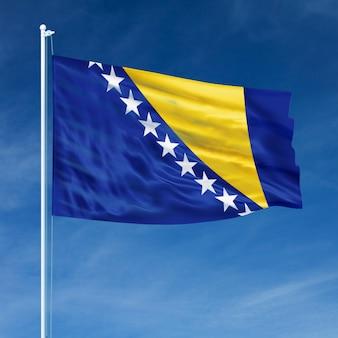 Vlag van bosnië en herzegovina vliegen