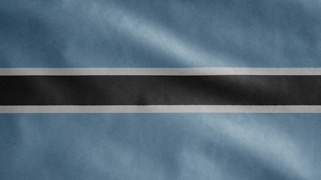 Vlag van botswana wappert in de wind