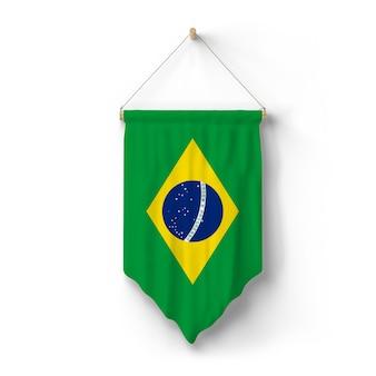 Vlag van brazilië hangt aan de muur
