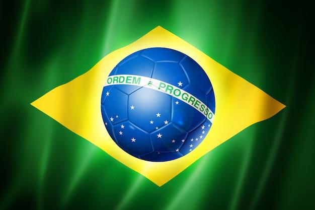 Vlag van brazilië wereldkampioenschap voetbal
