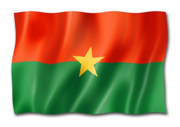 Vlag van burkina faso geïsoleerd op wit
