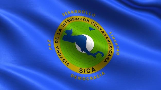 Vlag van centraal-amerikaans integratiesysteem