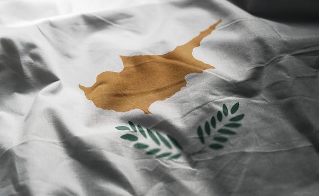 Vlag van cyprus verkreukelde close-up