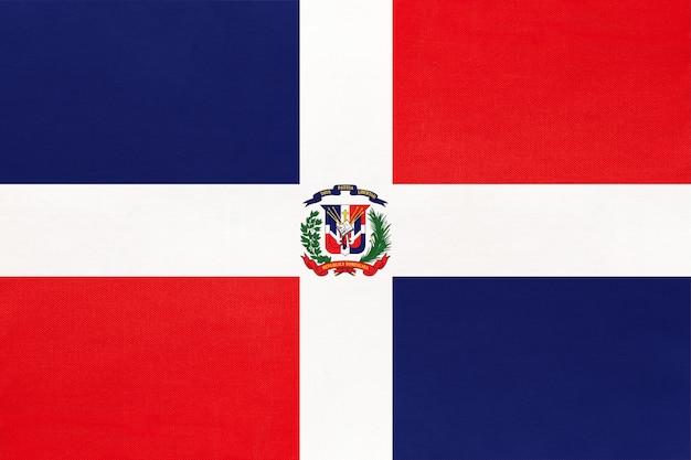 Vlag van de dominicaanse republiek nationale stof