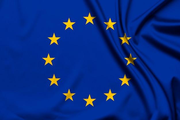 Vlag van de europese unie als achtergrond