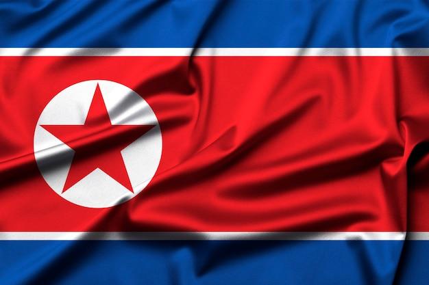 Vlag van de koreaanse volksrepubliek als achtergrond