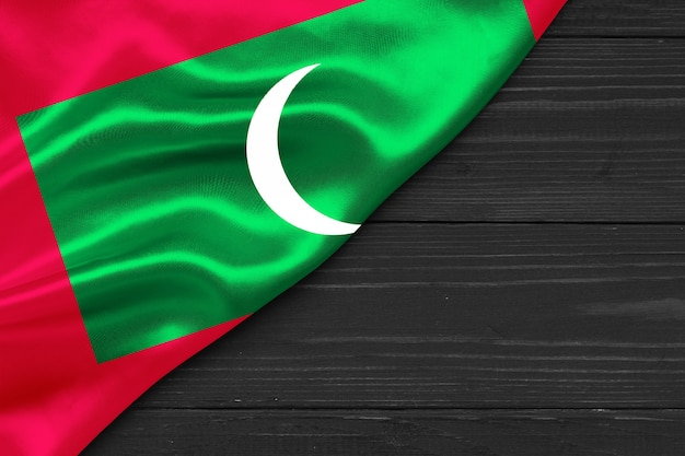 Vlag van de maldiven kopie ruimte