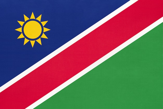 Vlag van de republiek namibië nationale stof