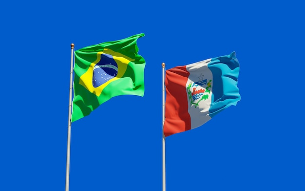 Vlag van de staat alagoas, brazilië. 3d-illustraties