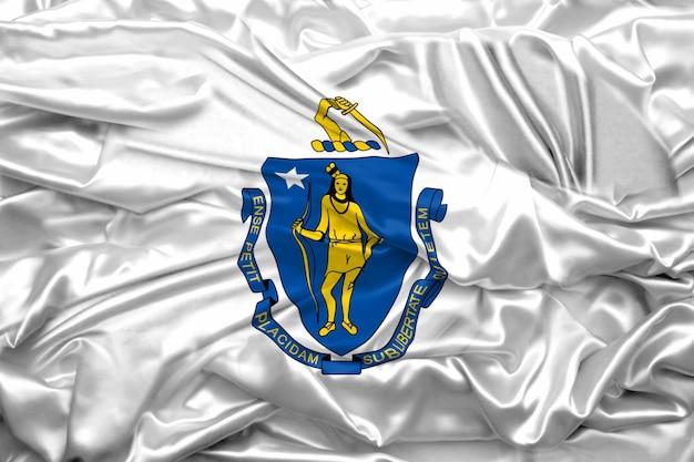 Vlag van de staat massachusetts van de verenigde staten van amerika
