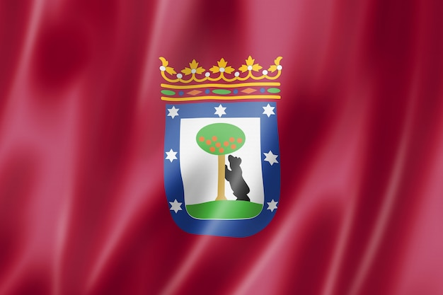 Vlag van de stad madrid, spanje