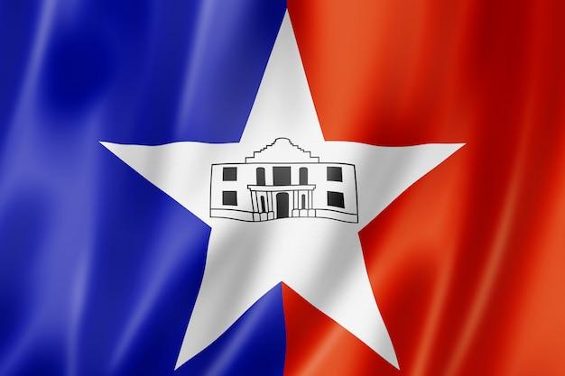 Vlag van de stad san antonio, texas, verenigde staten