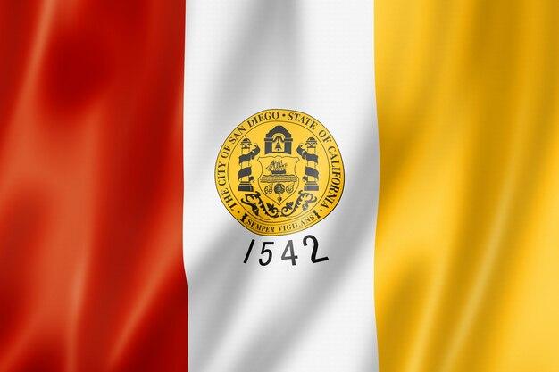 Vlag van de stad san diego, californië, verenigde staten