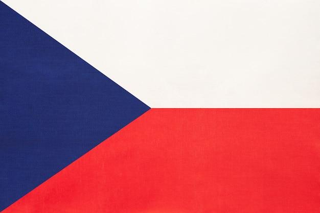 Vlag van de tsjechische republiek nationale stof