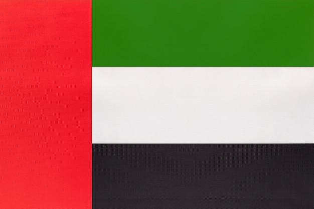 Vlag van de vae nationale stof