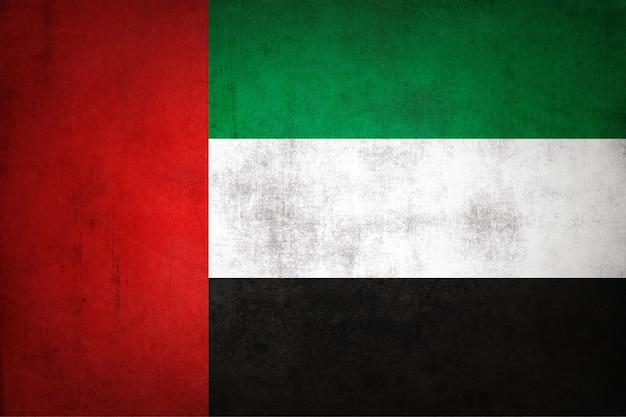 Vlag van de verenigde arabische emiraten met grunge textuur.