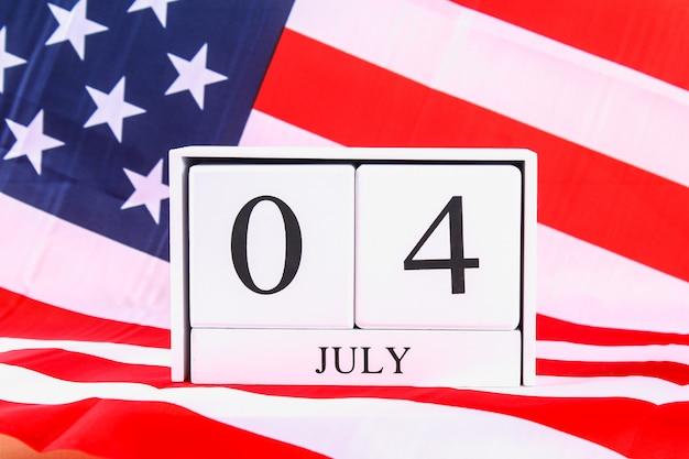 Vlag van de verenigde staten van amerika voor 4 juli