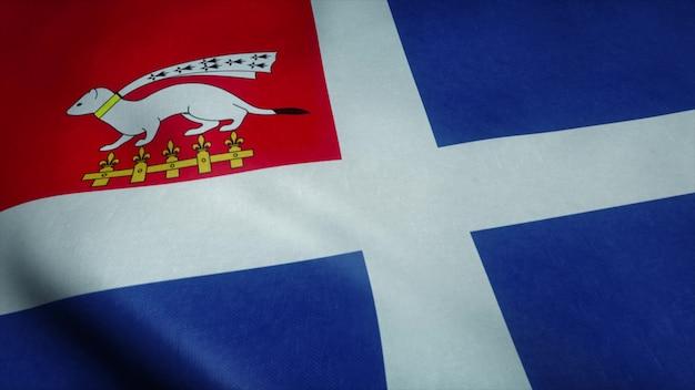 Vlag van de vlag van saint malo