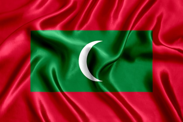 Vlag van de zijdeclose-up van de maldiven