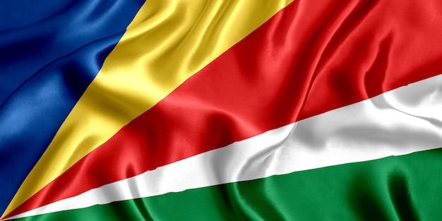 Vlag van de zijdeclose-up van de seychellen
