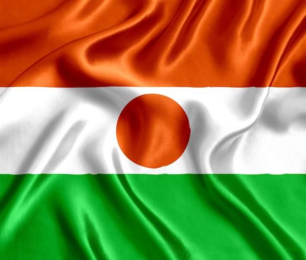 Vlag van de zijdeclose-up van niger