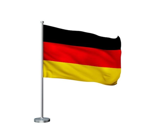 Vlag van duitsland op een witte achtergrond