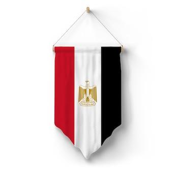 Vlag van egypte hangt aan de muur