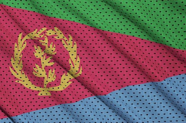 Vlag van eritrea gedrukt op een polyester nylon sportkledingweefsel