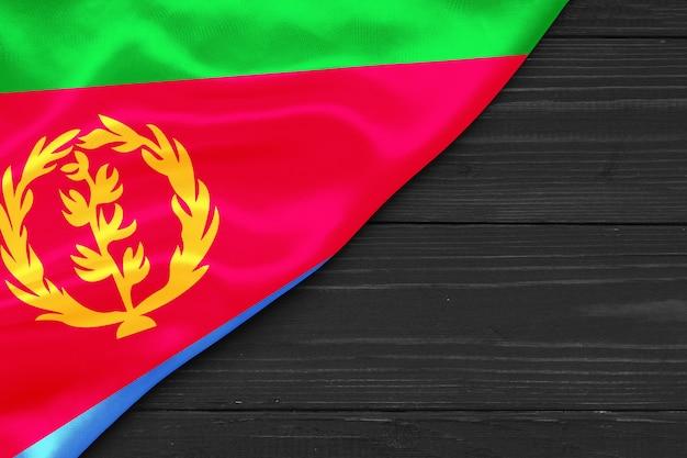 Vlag van eritrea plaats voor tekst omgaan met ruimte