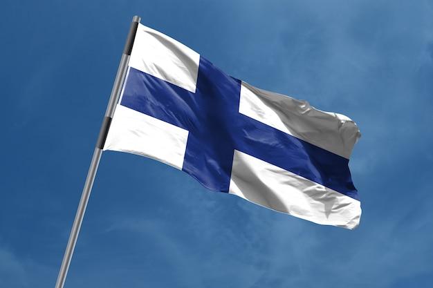 Vlag van finland zwaaien