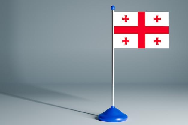 Vlag van georgië op een grijze achtergrond