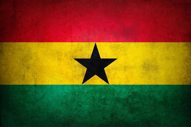 Vlag van ghana met grunge textuur.