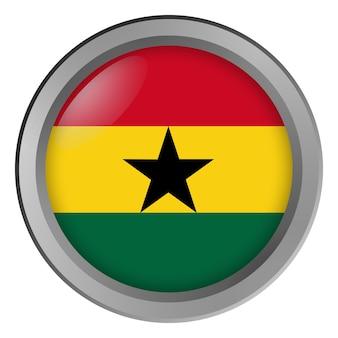 Vlag van ghana rond als knop
