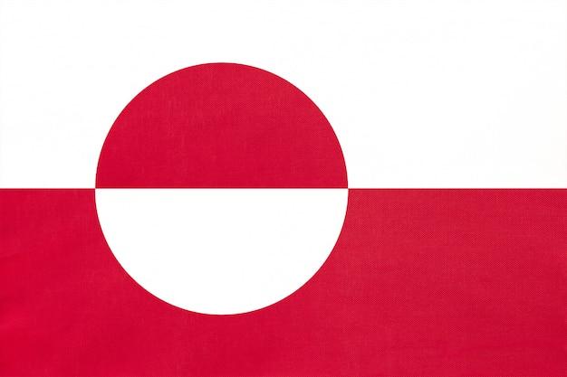 Vlag van groenland nationale stof, symbool van internationale wereld europese land.