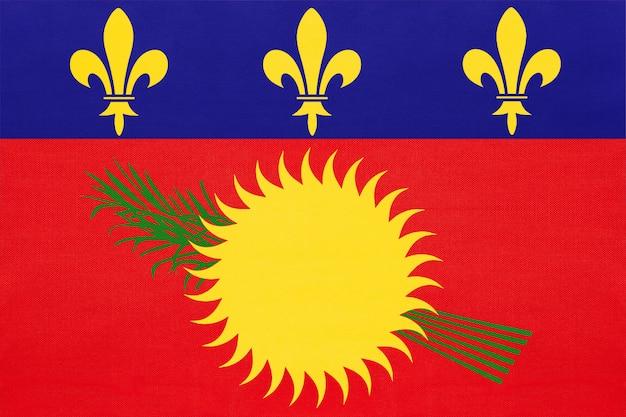 Vlag van guadeloupe nationale stof