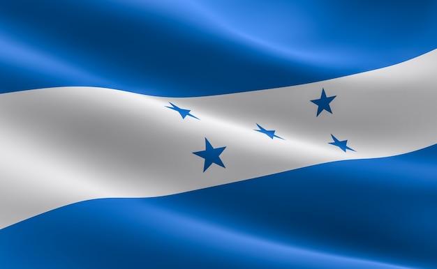 Vlag van honduras. 3d-afbeelding van de vlag van honduras golven.