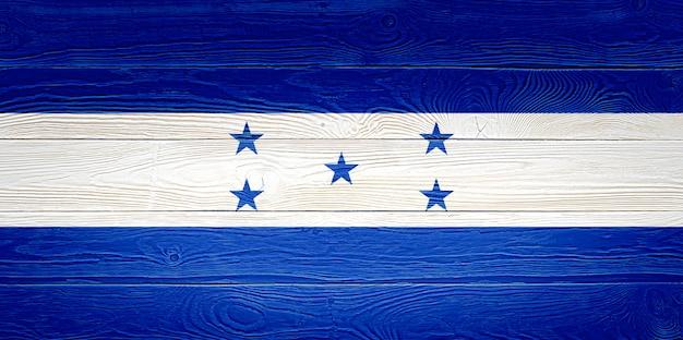 Vlag van honduras geschilderd op houten planken