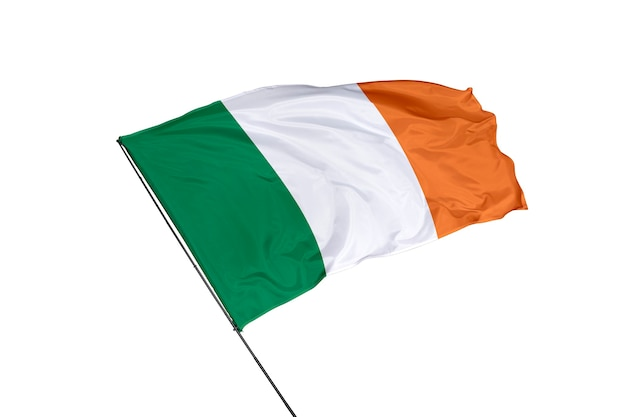 Vlag van ierland op een witte achtergrond