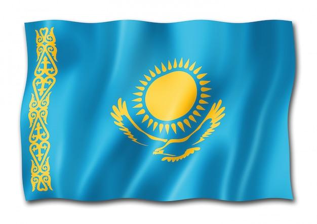 Vlag van kazachstan geïsoleerd