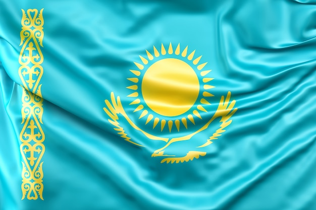 Vlag van kazachstan