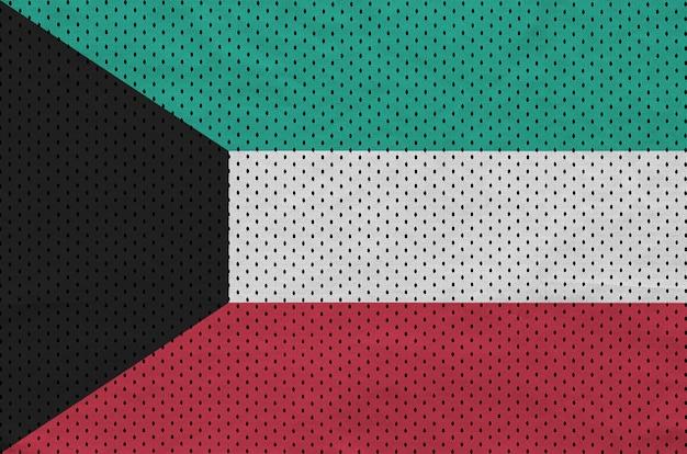 Vlag van koeweit gedrukt op een polyester nylon sportkledingweefsel