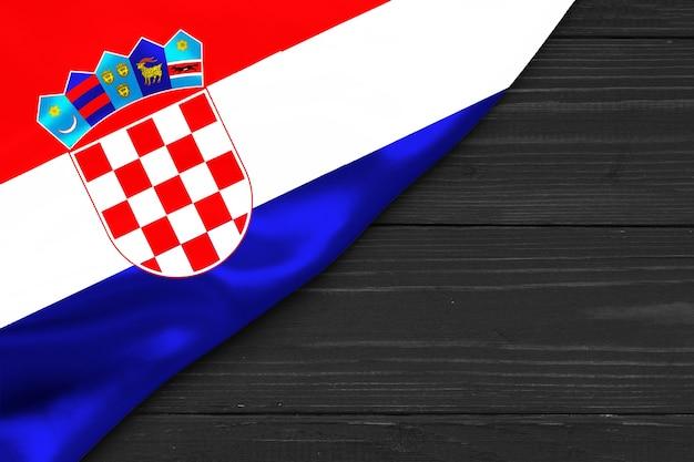 Vlag van kroatië plaats voor tekst omgaan met ruimte