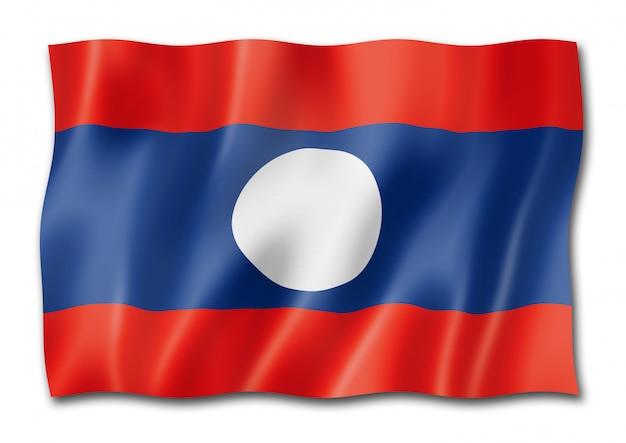 Vlag van laos geïsoleerd