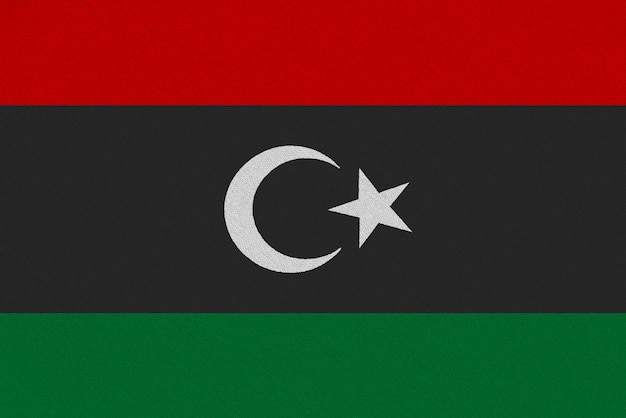 Vlag van libië stof