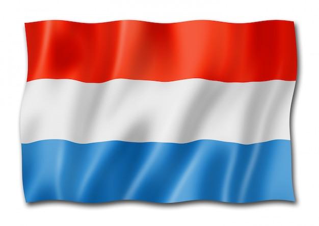 Vlag van luxemburg geïsoleerd op wit